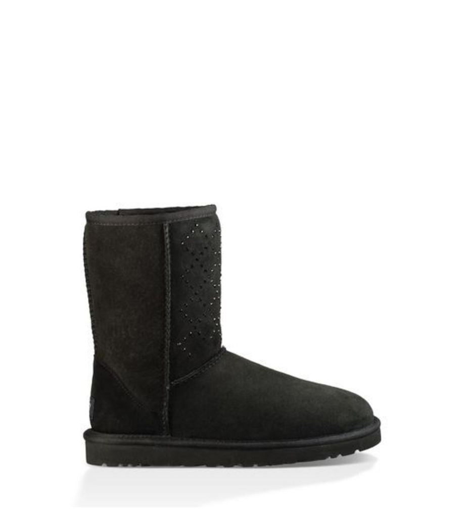 UGG Classic Short Crystal Diamond  Boots Black 3