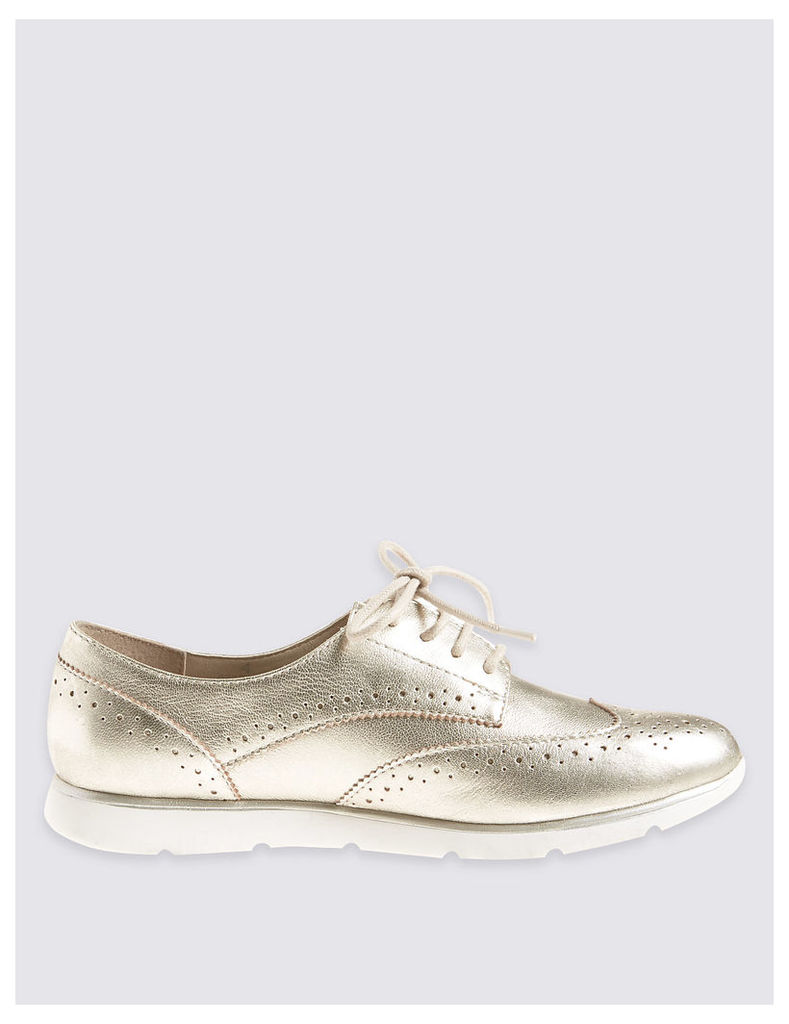 Footglove Leather Sporty Lace-up Trainers
