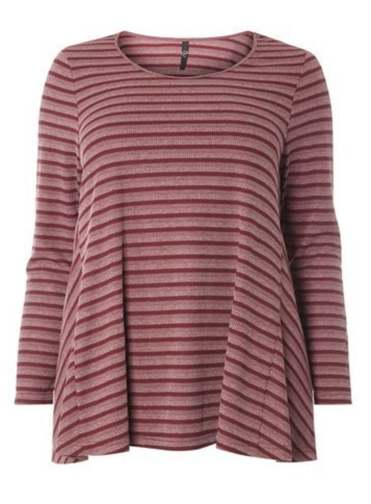Berry Red Stripe Swing Top, Berry