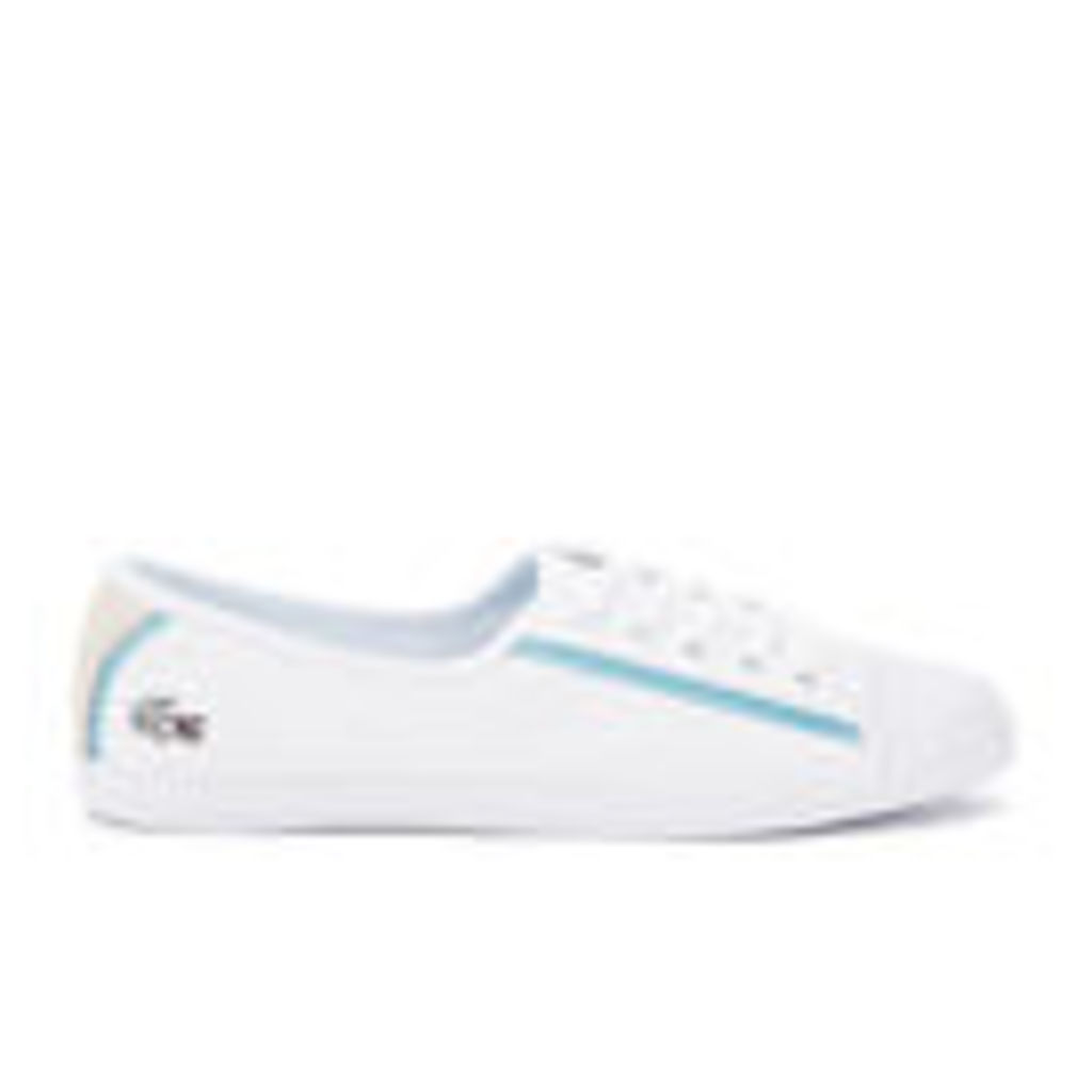 Lacoste Women's Ziane 116 1 SPW Canvas Plimsolls - White - UK 5