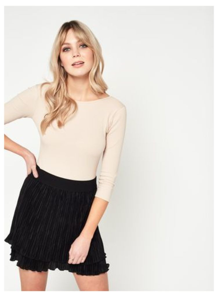 Womens Black Rara skirt, Black