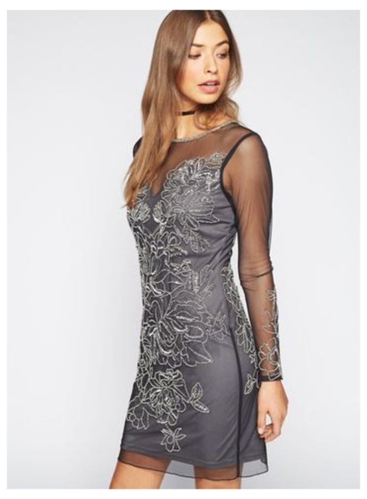 Womens PREMIUM Black Kim Bodycon Dress, Black