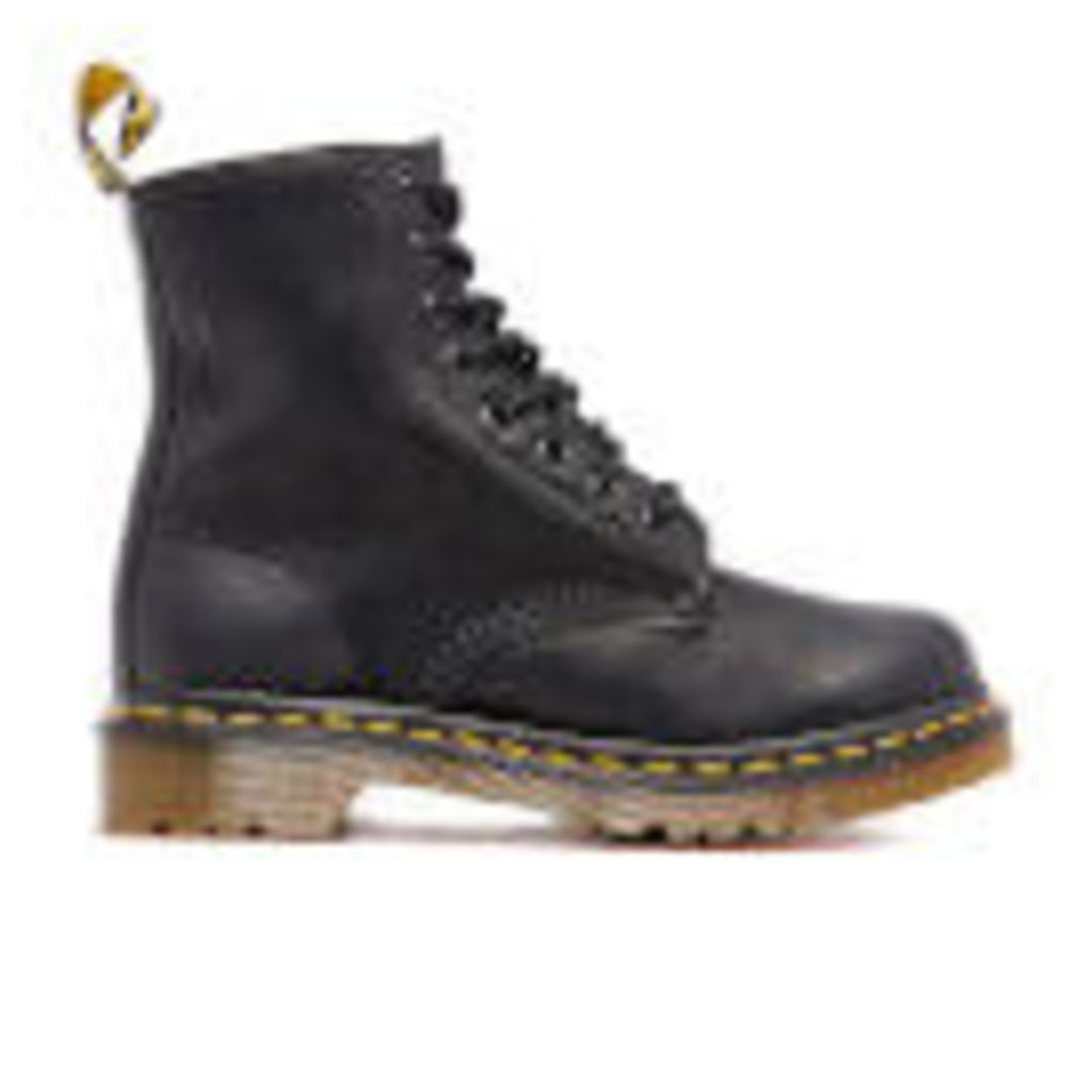 Dr. Martens Women's Serena Burnished Wyoming 8-Eye Boots - Black - UK 5