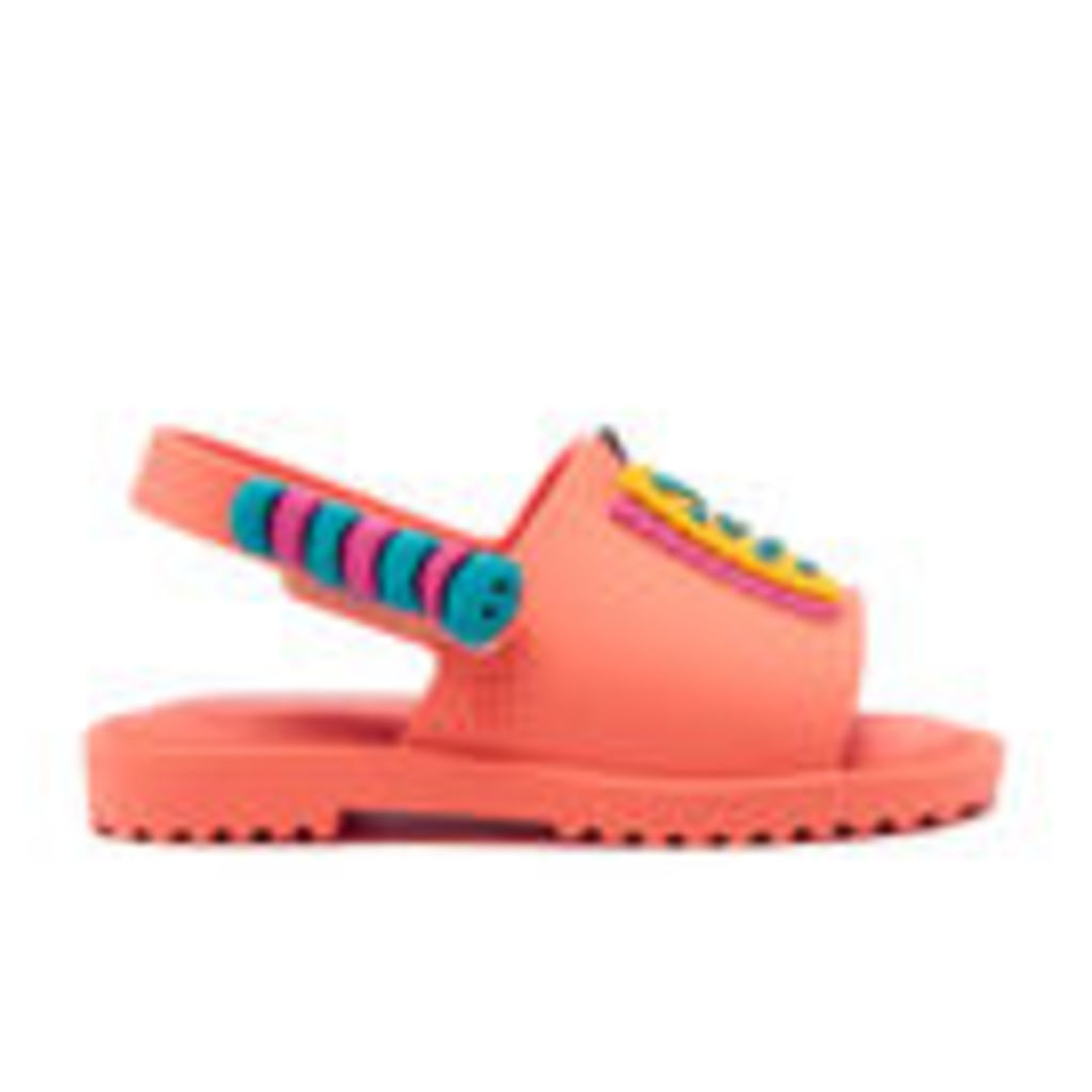Mini Melissa Toddlers' Fabula Mia Sandals - Coral - UK 9 Toddler