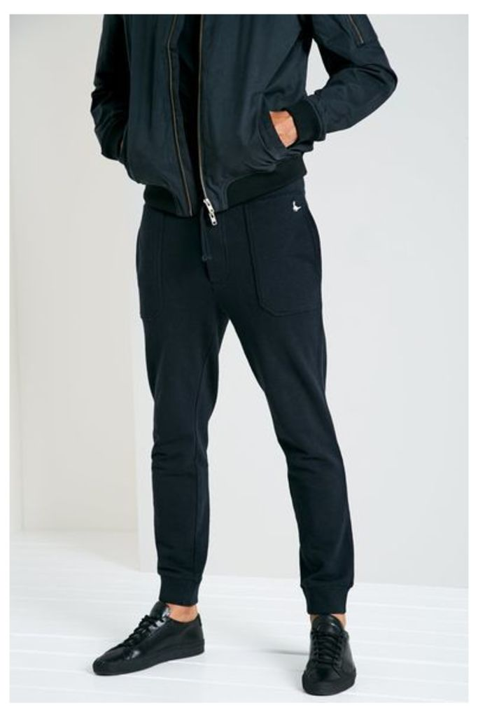 BARNABY TAPERED JOGGERS BLACK