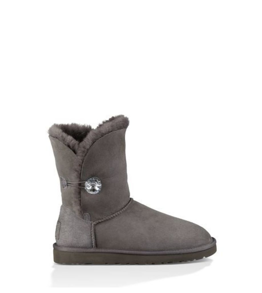 UGG Bailey Button Bling Womens Boots Grey 7