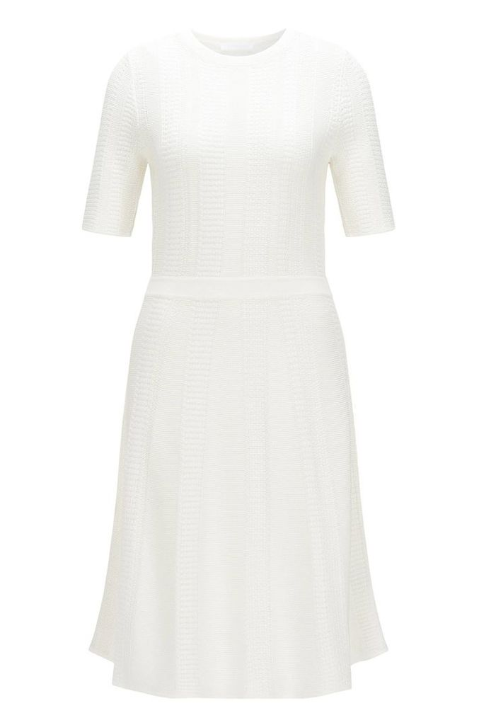 Fitted knitted dress in a viscose blend with cotton: `Frizana`