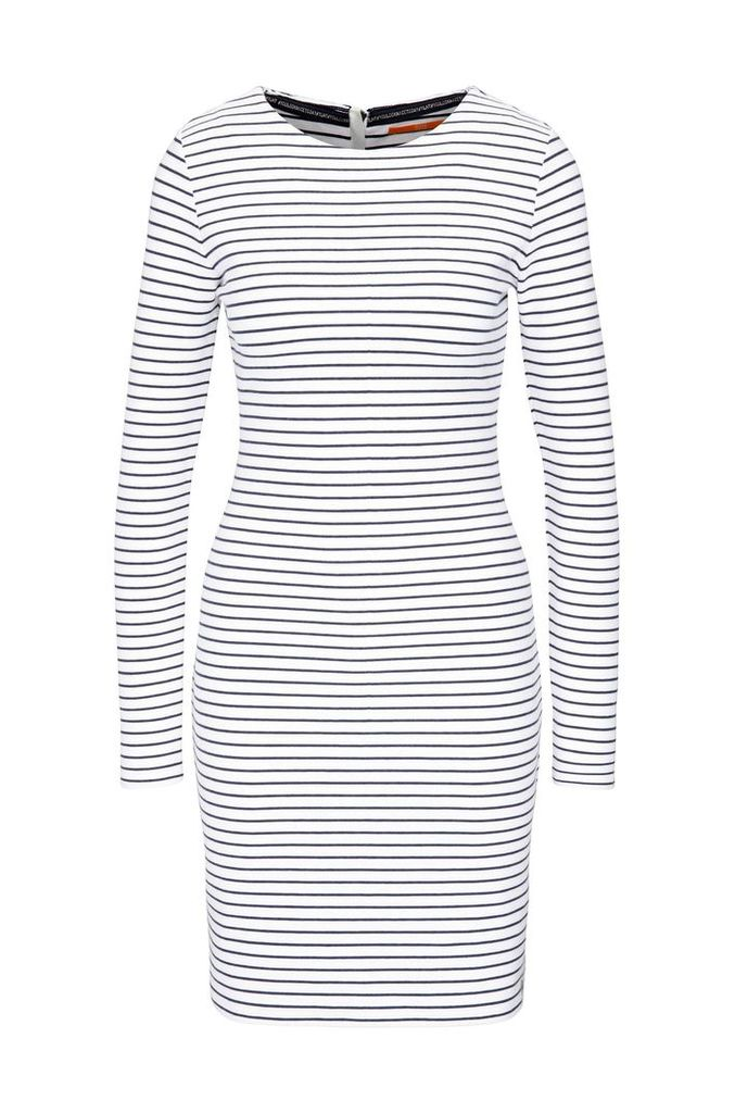 Striped slim-fit jersey dress in a cotton blend with elastane: `Damarina`