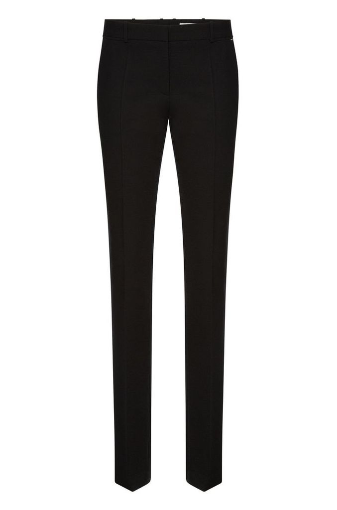 Regular-fit trousers in textured stretch new wool: `Titana3`