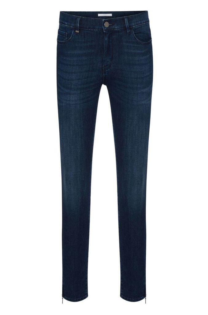Slim-fit jeans in a stretchy cotton blend with zip details: `Nafice Zip`