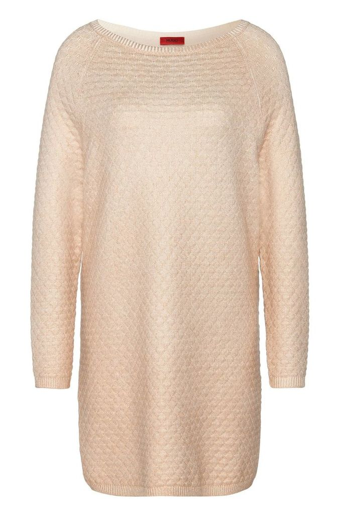 Long sweater in cotton blend with viscose and silk: `Saskiara`