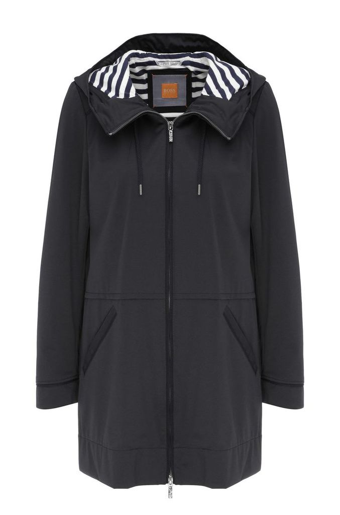 Rain parka in material blend: `Orainy`