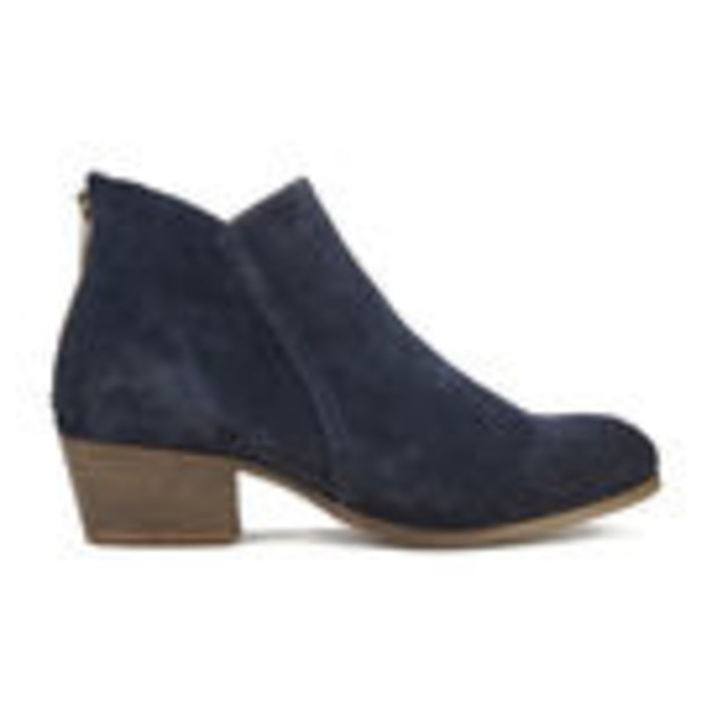 H Shoes by Hudson Women's Apisi Suede Heeled Ankle Boots - Navy - UK 4