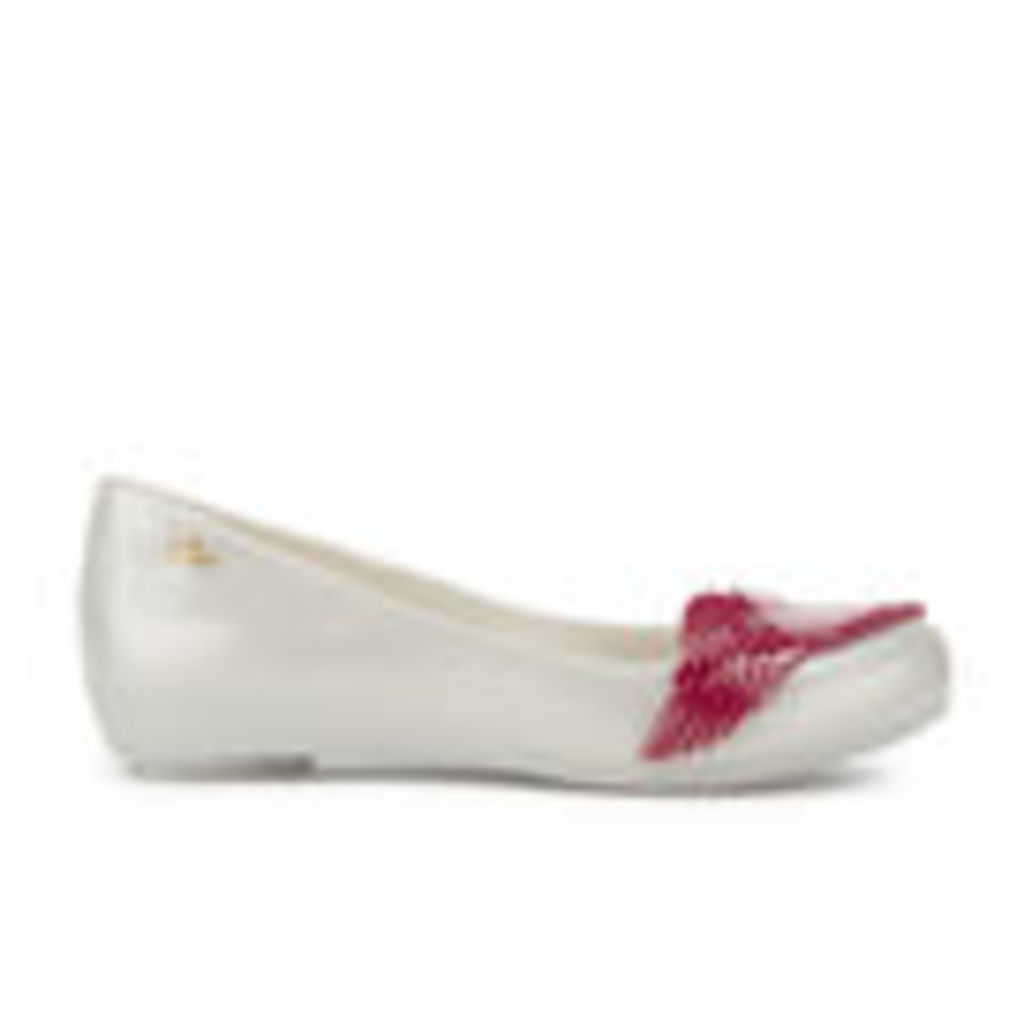 Vivienne Westwood for Melissa Women's Ultragirl 16 Ballet Flats - Pearl Red Cherub - UK 6