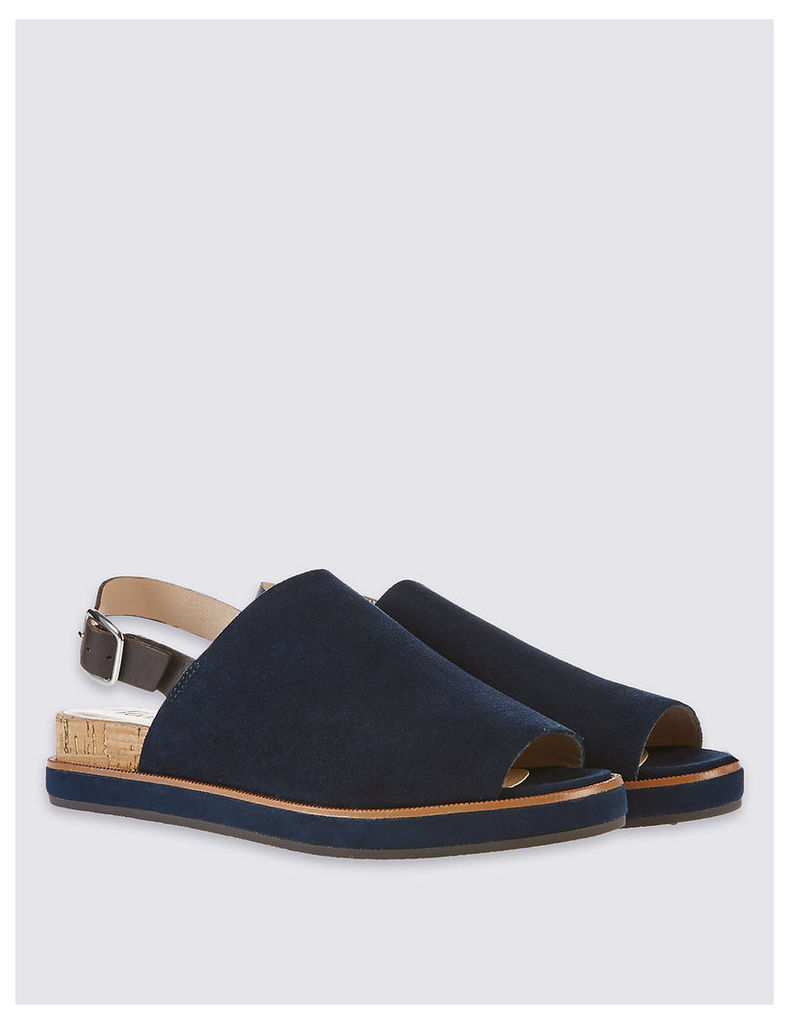 Footglove Suede Block High Vamp Sandals