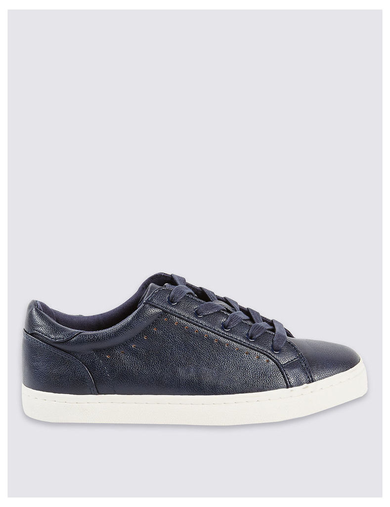 M&S Collection Punch Hole Trainers with Insolia Flex