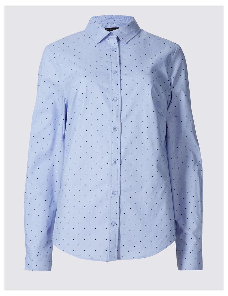 M&S Collection Star Print Long Sleeve Shirt