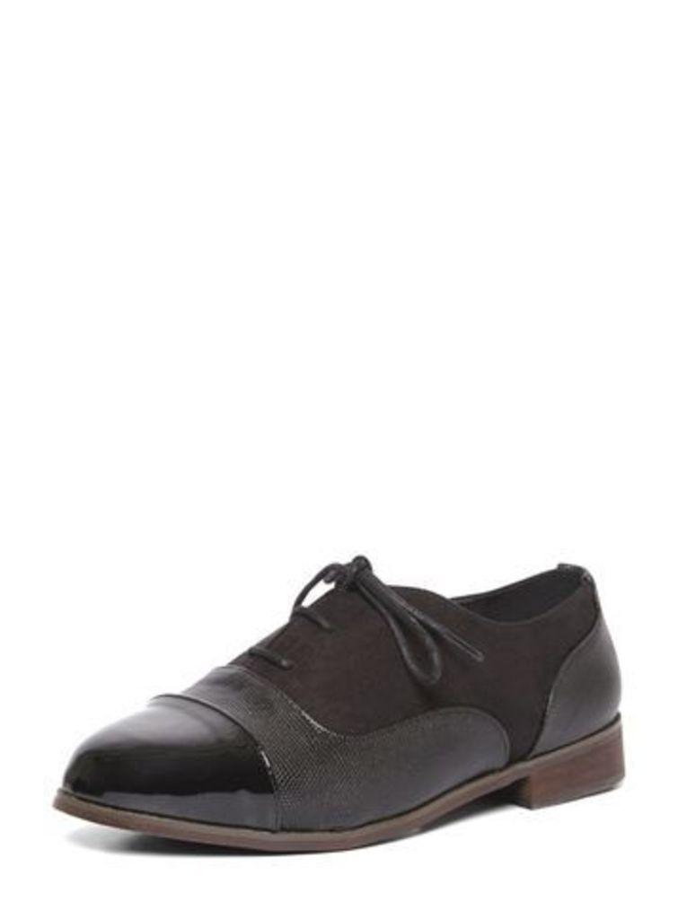 Black Lace Up Brogue Shoes, Black
