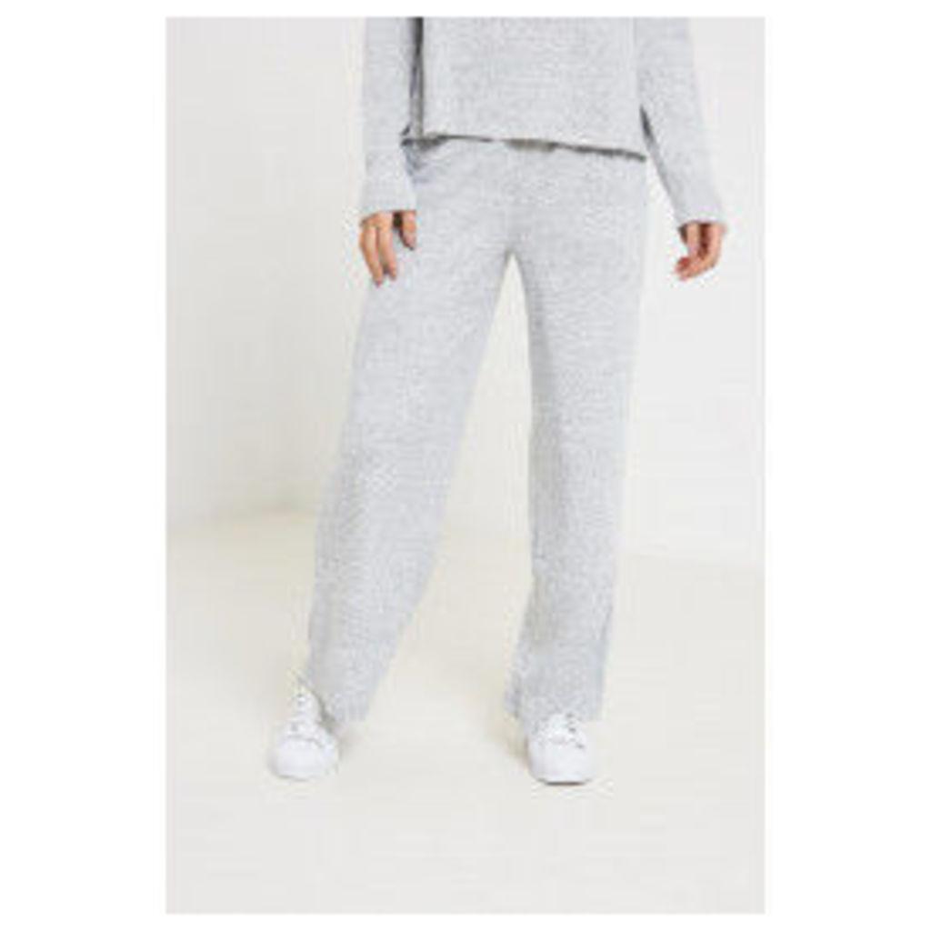 Vila Lune Wide Knit Lounge Pants - Grey