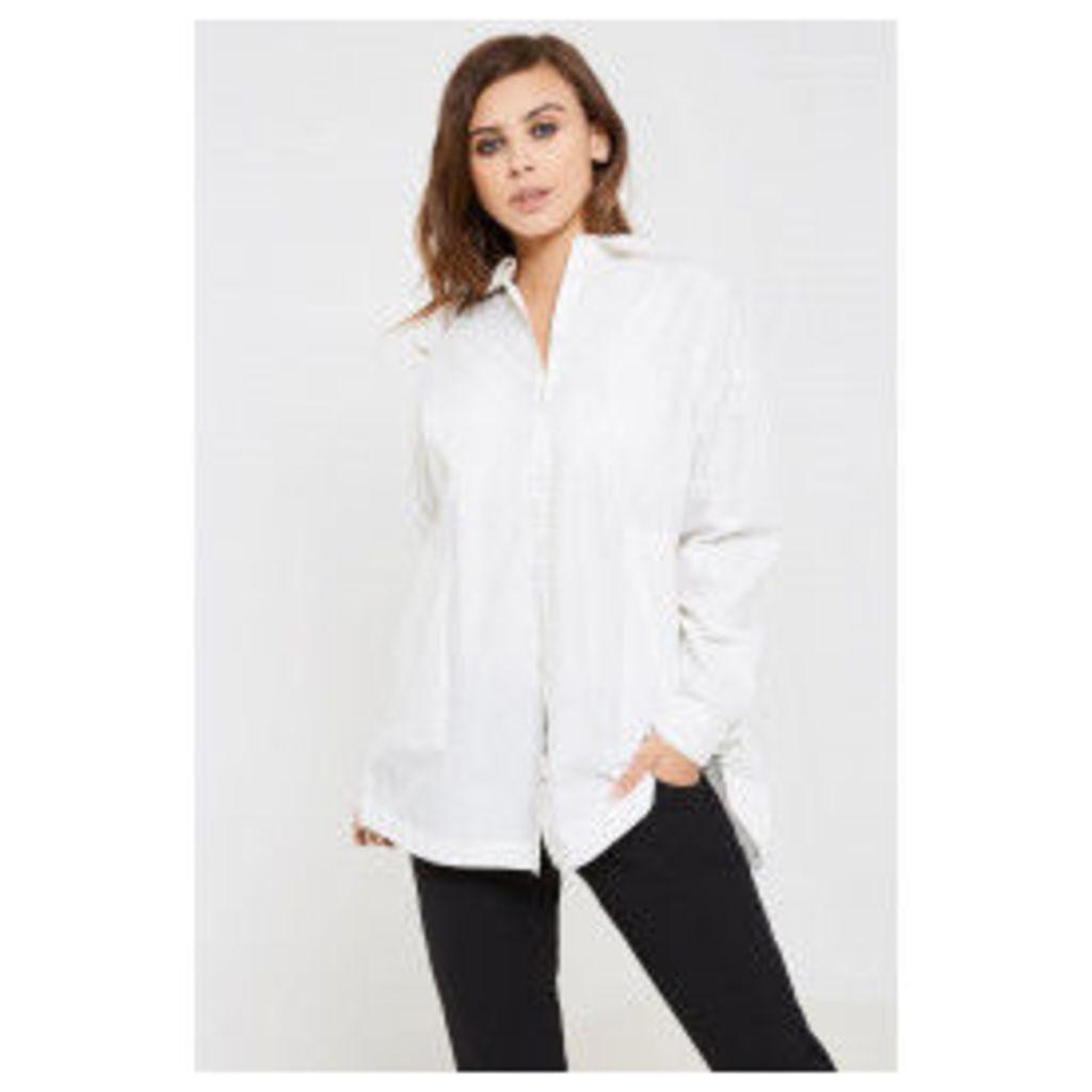 Vila Sagin Oversize Long Sleeve Shirt - White