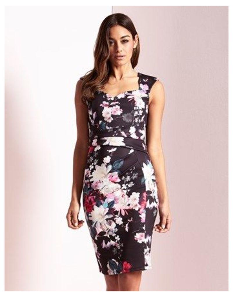Lipsy Print Sweetheart Bodycon Dress