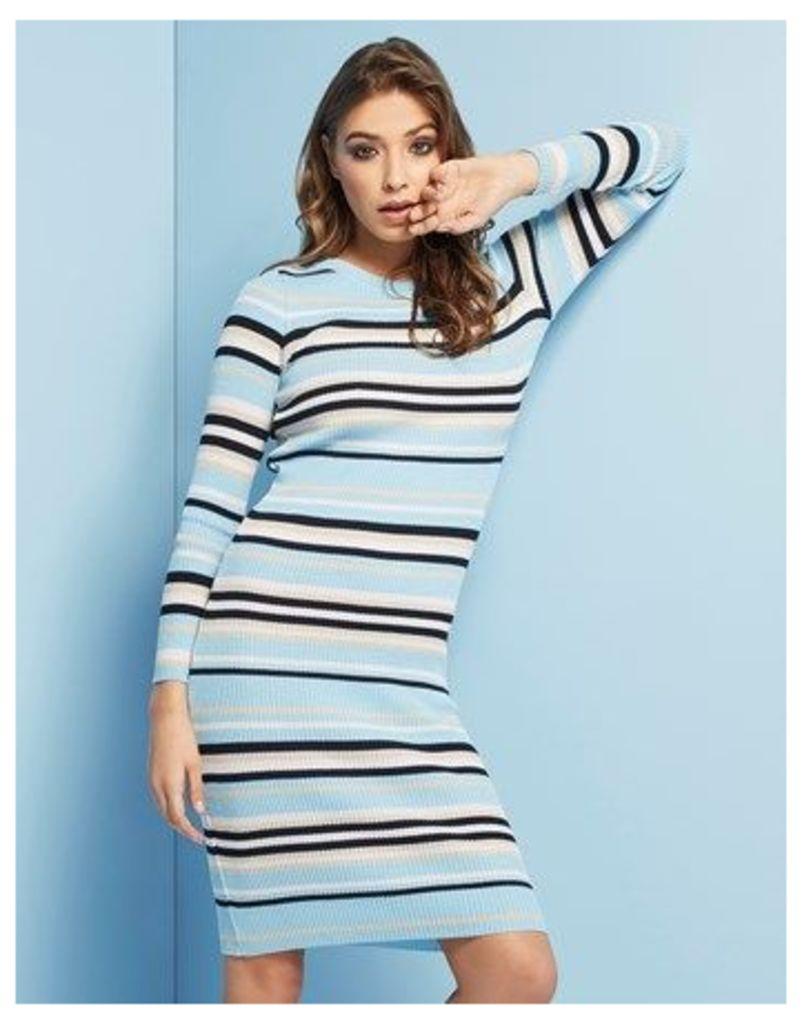 Lost Ink Stripe Knit Dress