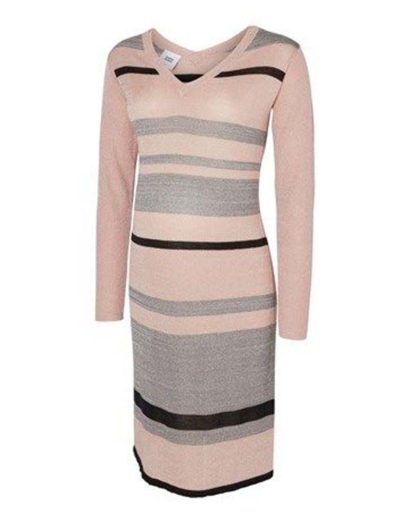 Mamalicious Long Sleeve Stripe Knit Dress