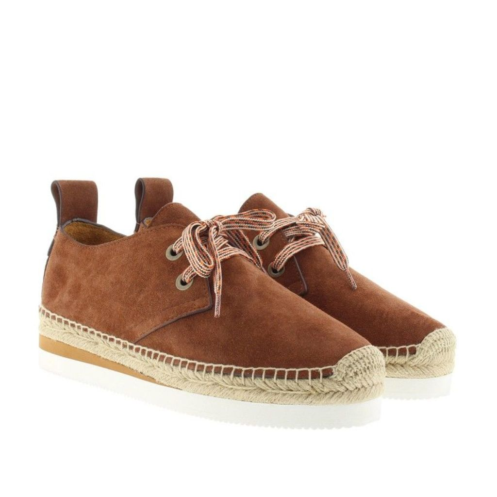 See By Chloé Espadrilles - Sunset Crosta Suede Espadrilles Cola Tan - in brown - Espadrilles for ladies