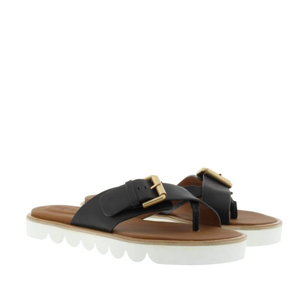 See By Chloé Sandals - Flori Calf Leather Sandal Black - in black - Sandals for ladies