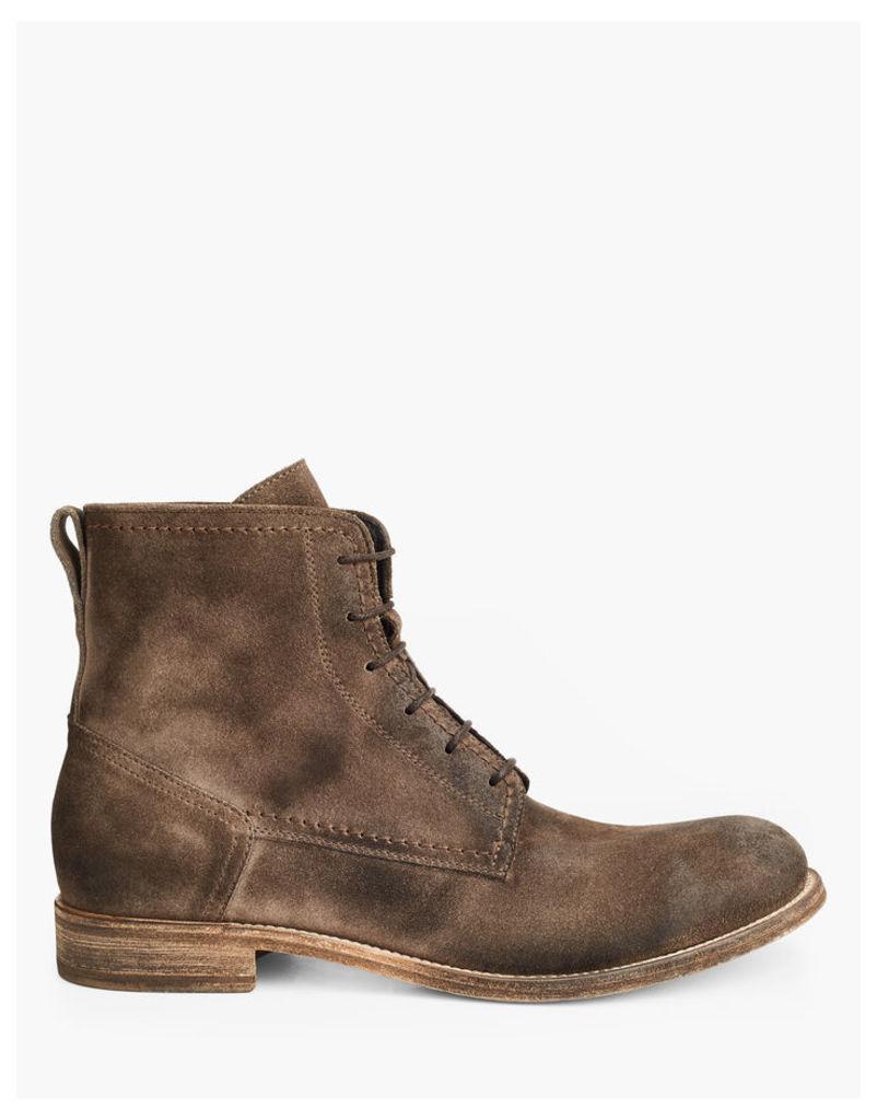 Belstaff Alperton Lace Up Boots Taupe