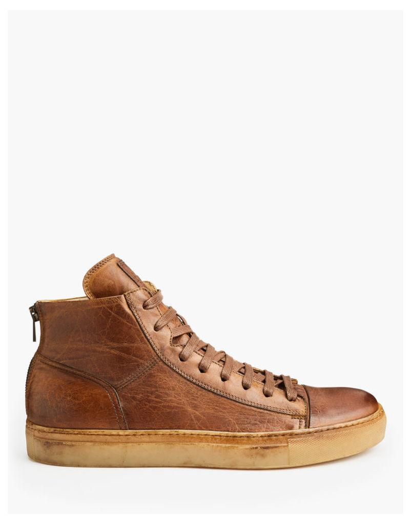 Belstaff Warwick High Sneakers Cognac