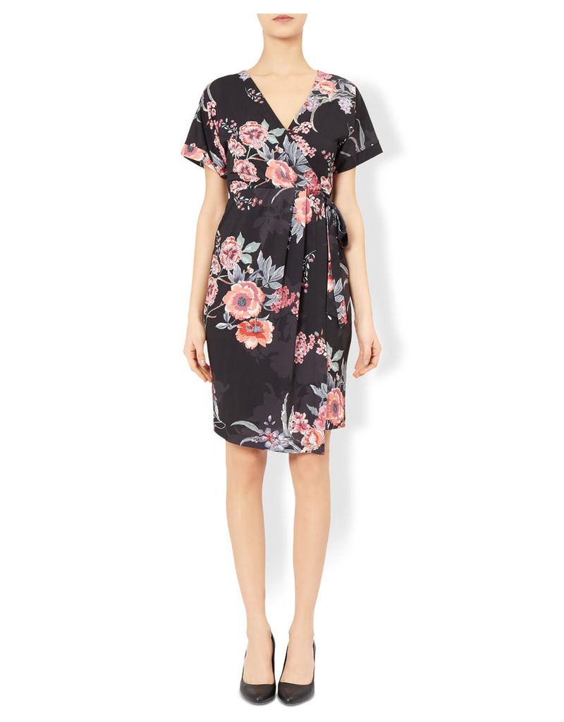 Florence Floral Print Wrap Dress