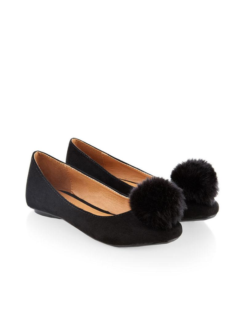 Poppy Pom Pom Ballerina Shoe