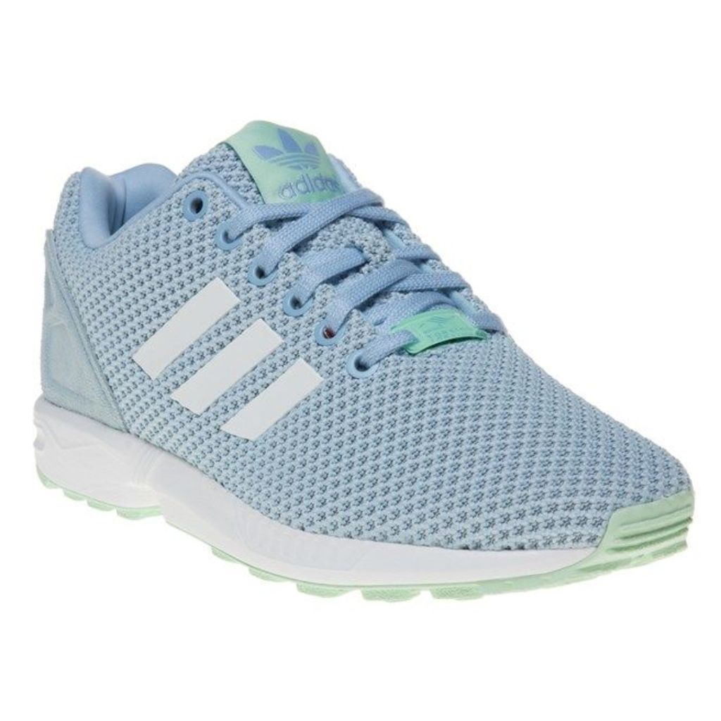 adidas Zx Flux Trainers, Clear Sky/White/Frost Green