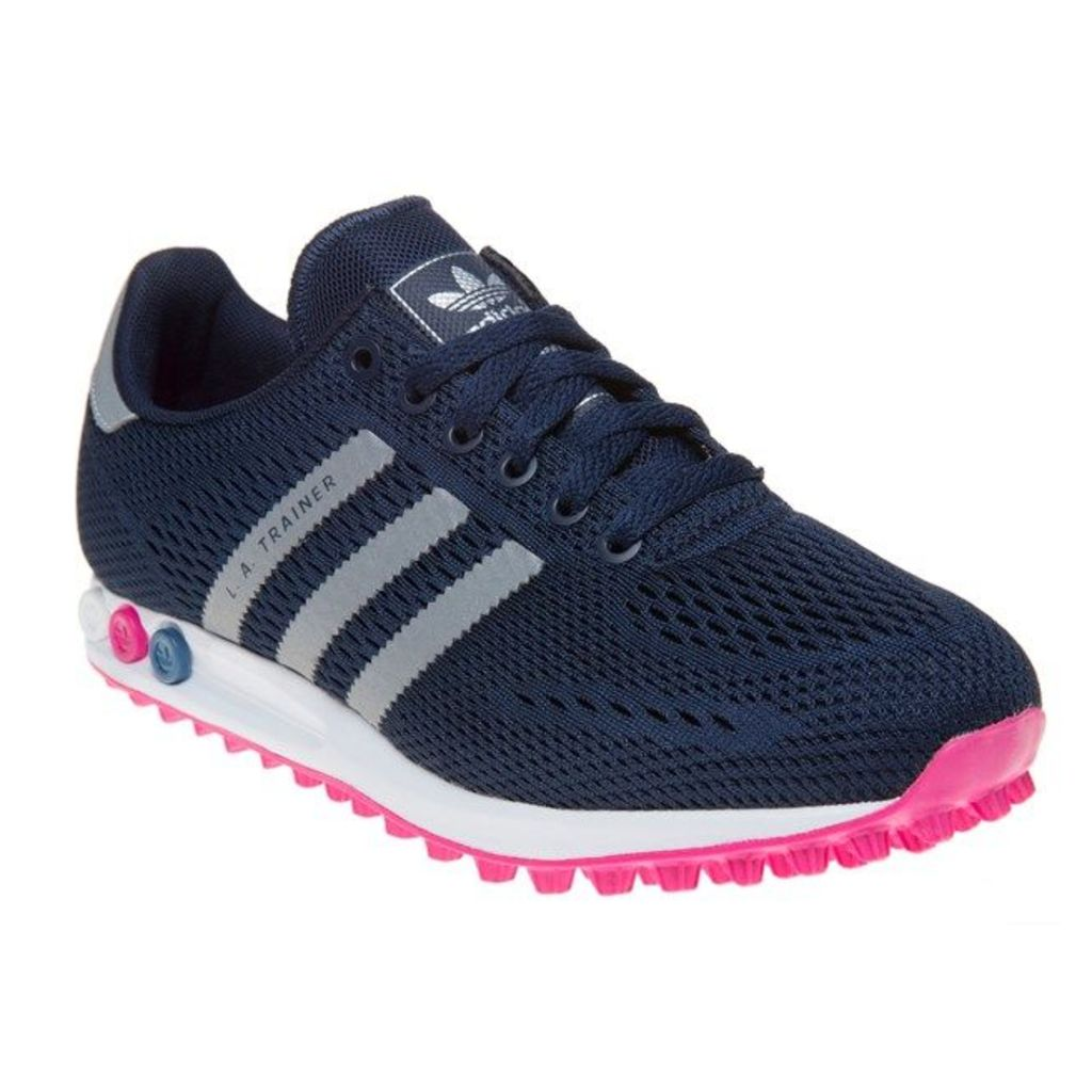 adidas L.A. Trainer Trainers, Collegiate Navy/Silver/S
