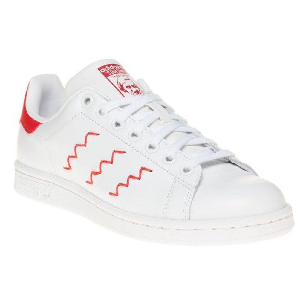 adidas Zig-Zag Stan Smith Trainers, Ftw White/Red