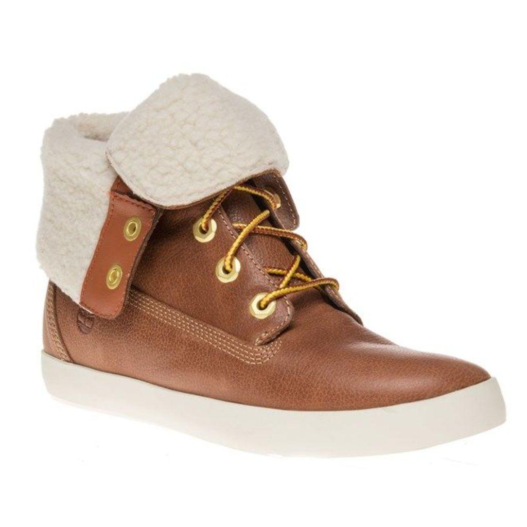 Timberland Glastenbury Fleece Roll Down Boots, Tan