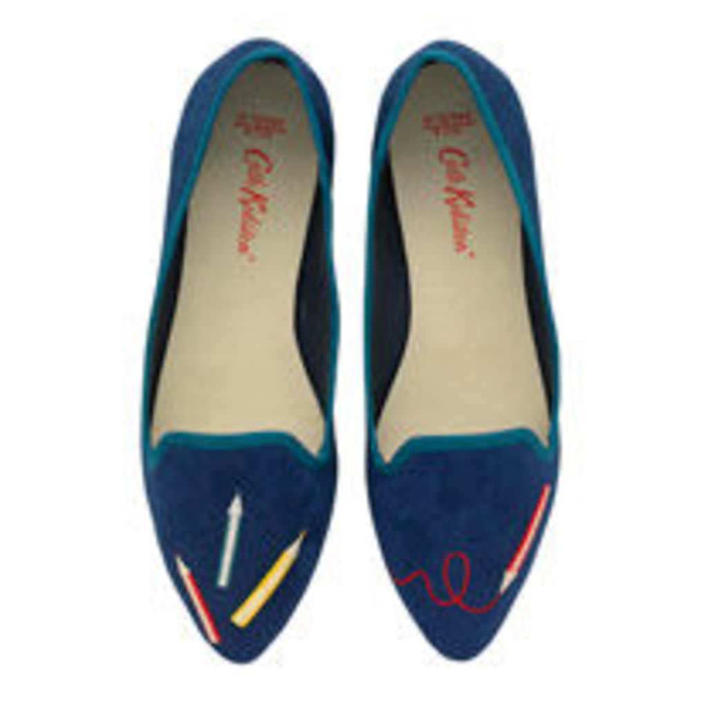 Pencils Embroidered Shoe