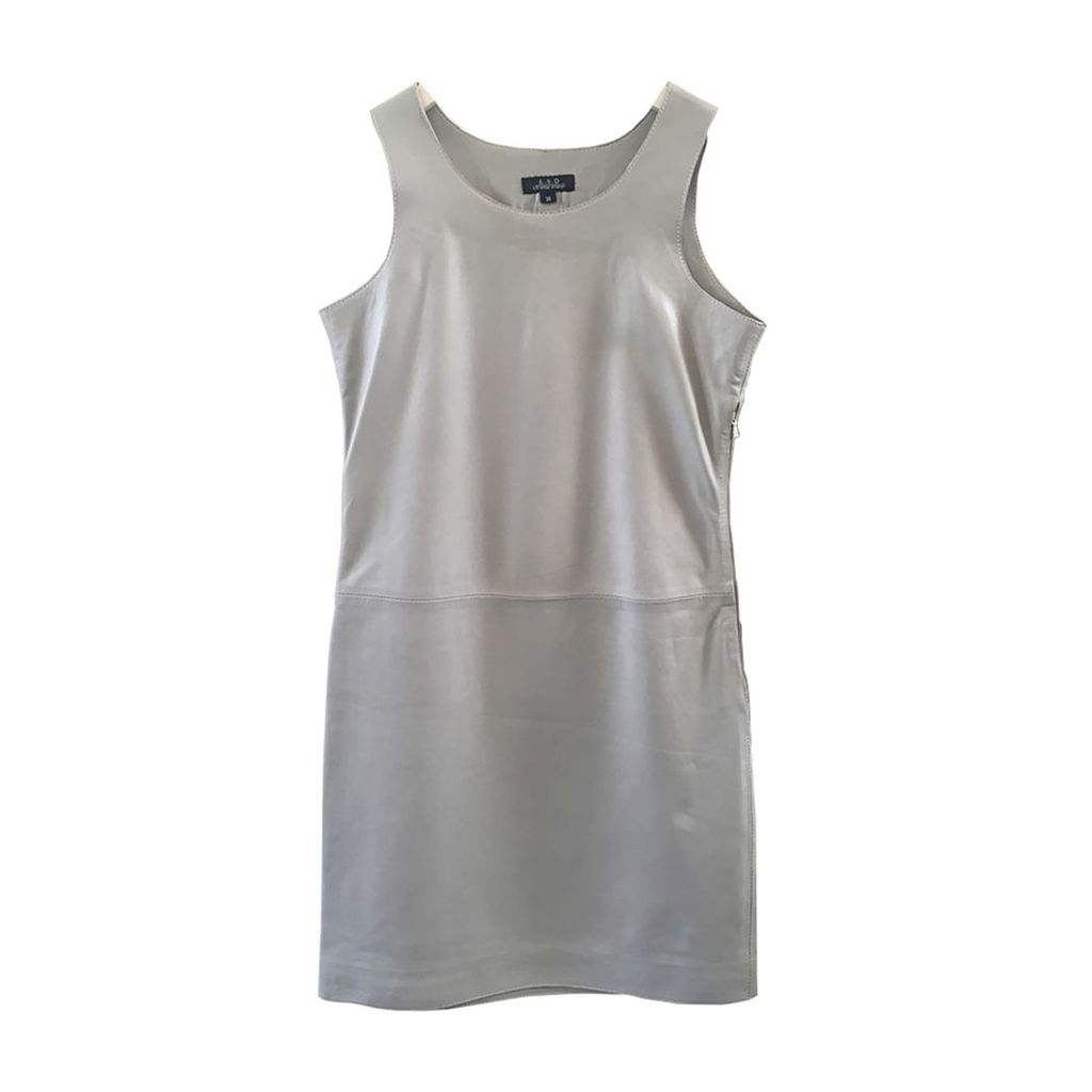 ELLESD - Mima Leather Dress Cream