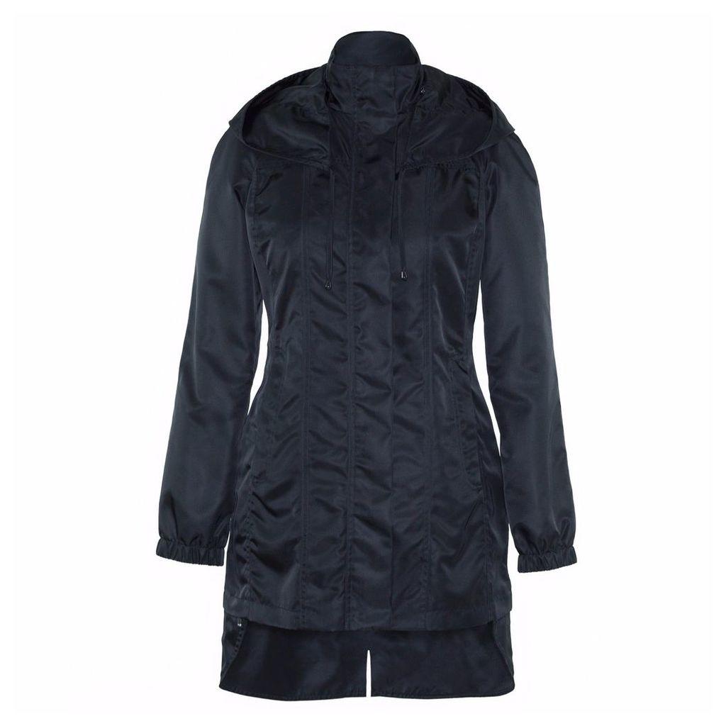 Ducktail Raincoats - Women's Glossy Black Tail Raincoat