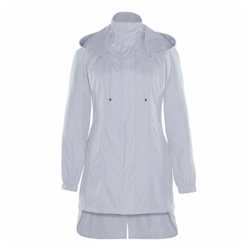 Ducktail Raincoats - Women's Light Grey Tail Raincoat