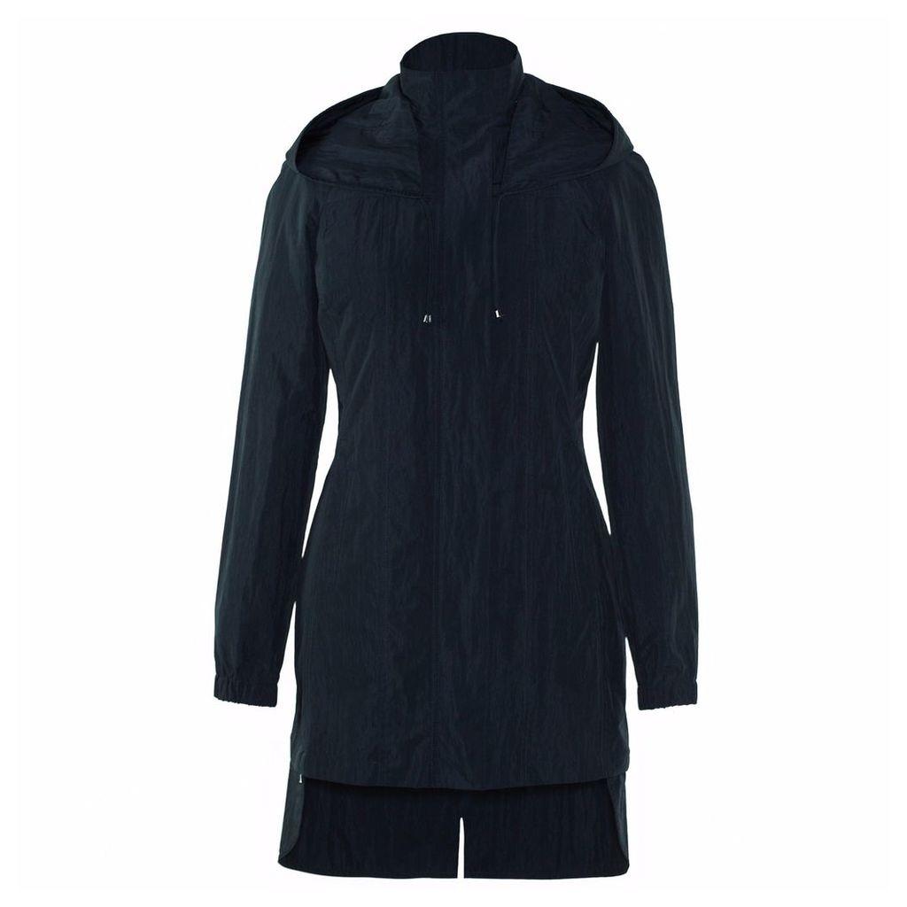 Ducktail Raincoats - Women's Matte Black Tail Raincoat
