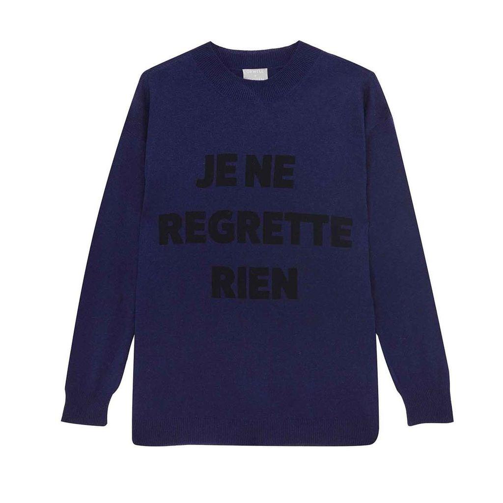 Orwell + Austen Cashmere - Je Ne Regrette Sweater Navy & Black
