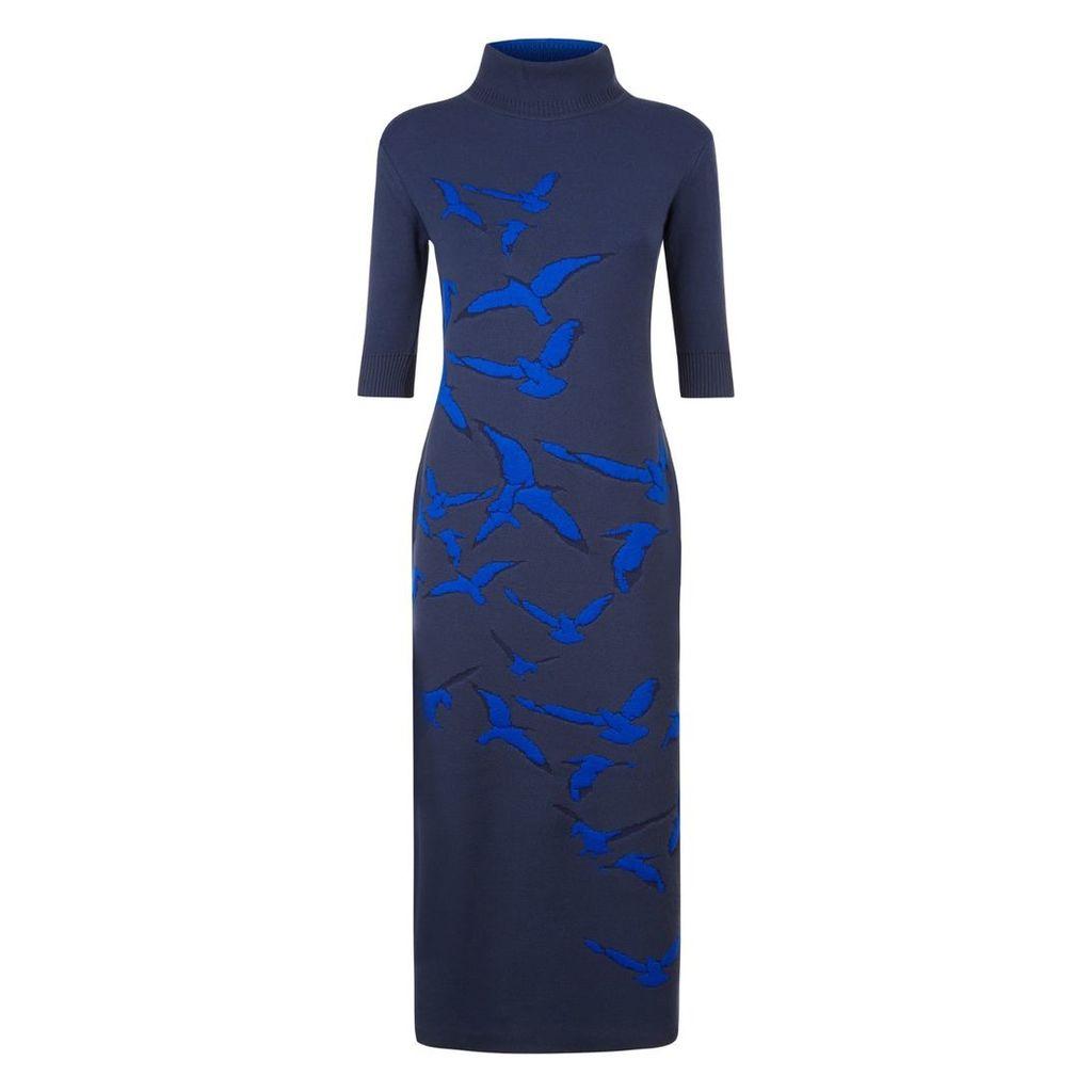 Vielma London - Turtle Neck Jacquard Long Dress