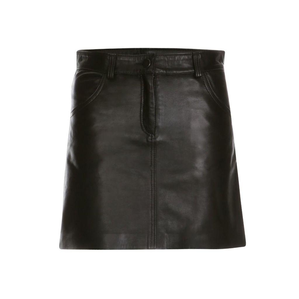 ELLESD - Leather Mini Skirt