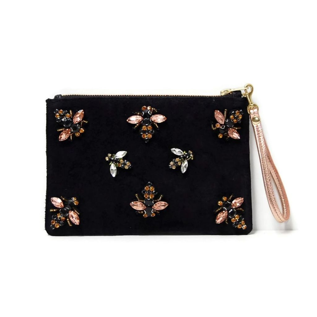 Angela Valentine Handbags - Black Bee Clutch