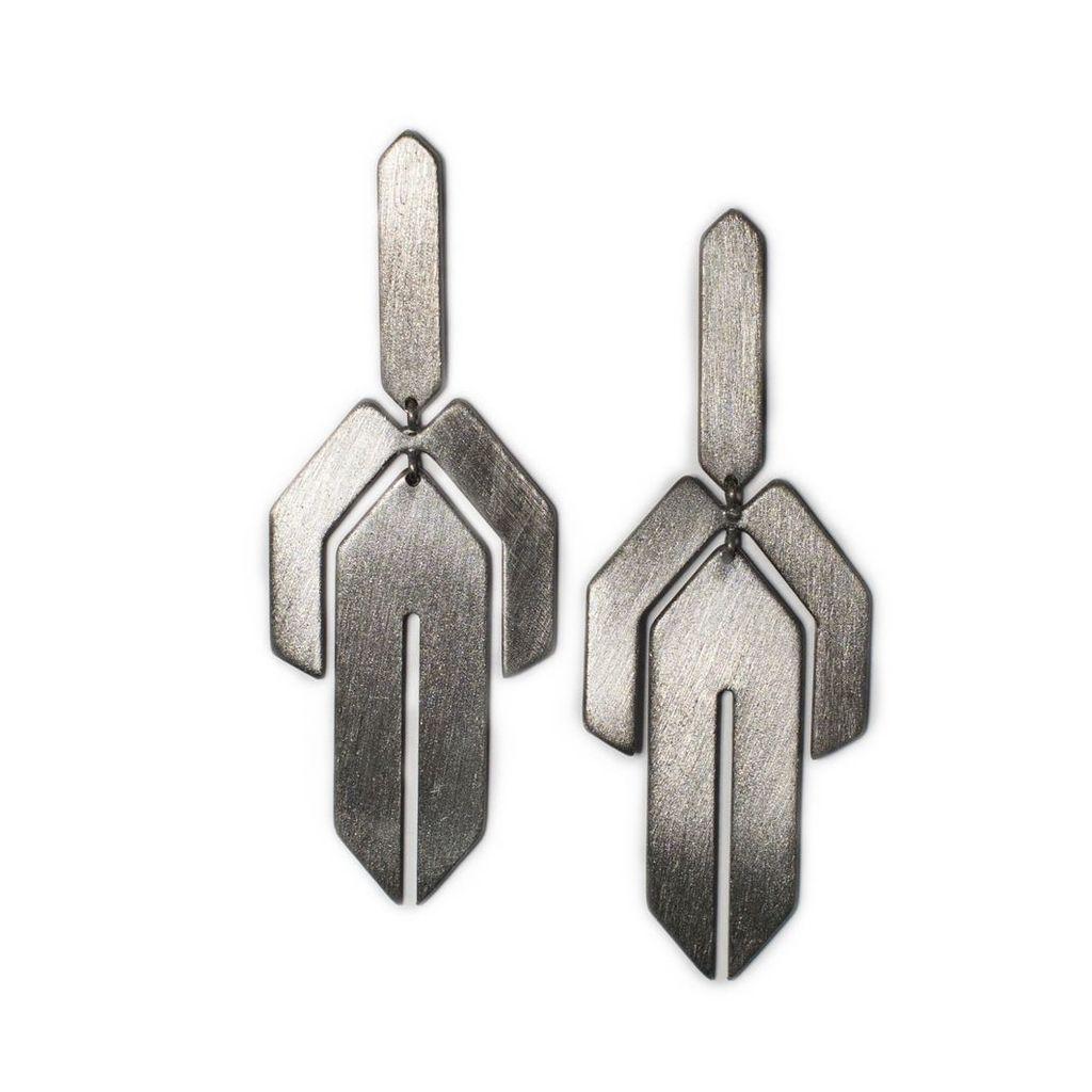 Ellapolo - Lavinia Black Earrings