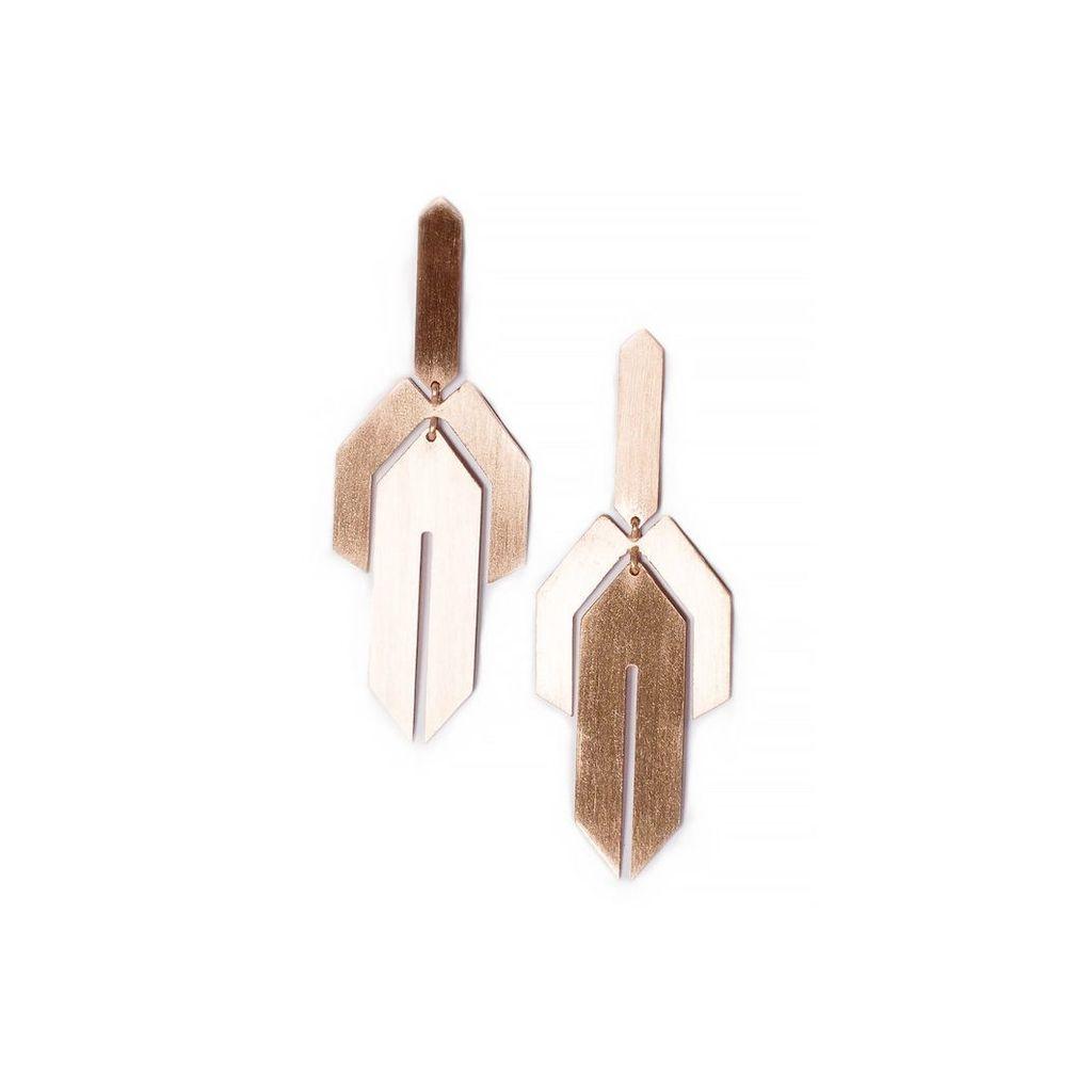 Ellapolo - Lavinia Rose Gold Earrings