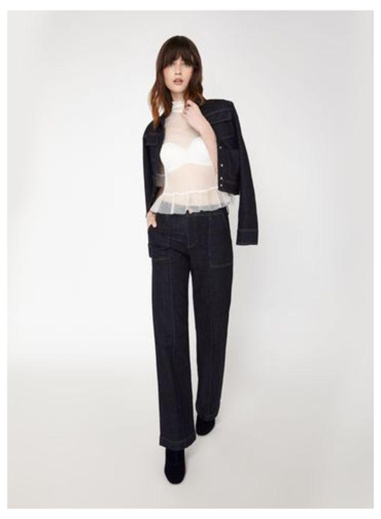 Womens PREMIUM High Waist Straight Jean, Denim