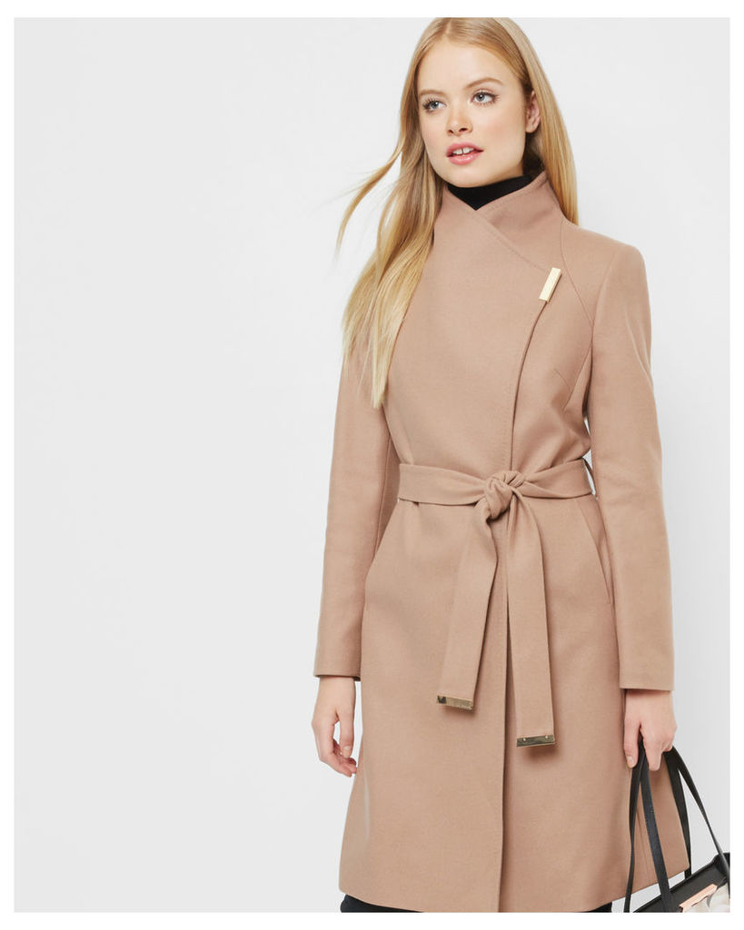 Ted Baker Magnetic clasp long coat Camel